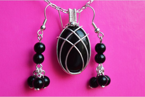 Black Onyx in Silver