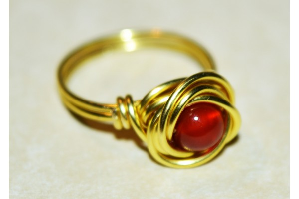 Solitaire Brass Ring