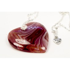 Burgundy Agate Heart