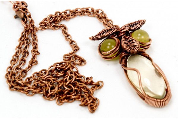 Citrine Owl in Copper