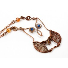 Copper Owl with Beads