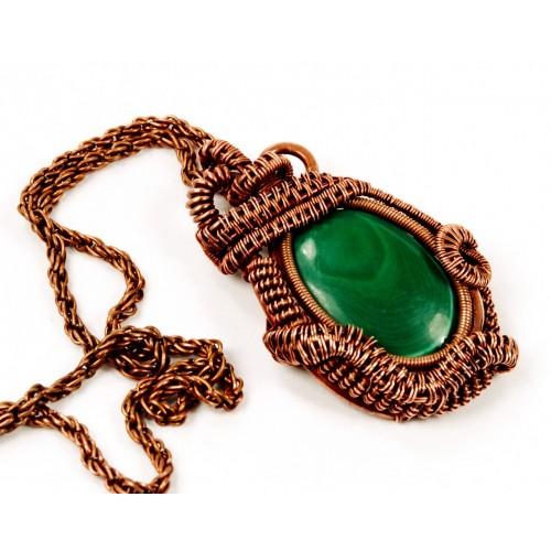 Malachite in Copper