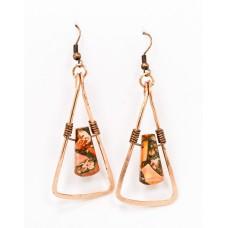 Ocean Jasper Earrings in Copper