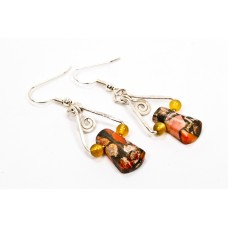Ocean Jasper Earrings in Silver