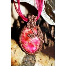 Pink Jasper in Copper