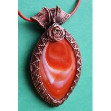 Orange Agate in Copper