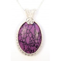 Purple Turquoise in Silver