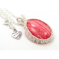 Rhodonite in Silver