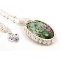 Ruby Zoisite in Silver