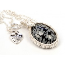 Snowflake Obsidian in Silver
