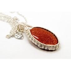 Gold Sunstone in Silver