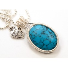 Blue Turquoise in Silver