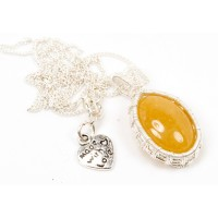 Yellow Jade in Silver