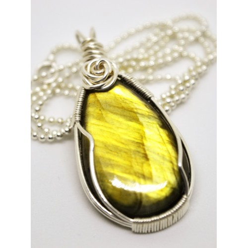Gold Labradorite in Silver